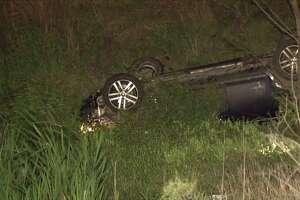 Man killed after car struck guardrail in Crosby