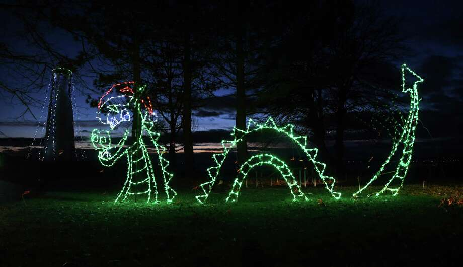 Almost 60 lighting displays will be grabbing your attention at the 25th Annual Fantasy of Lights at Lighthouse Point Park in New Haven, which starts Friday, and runs until New Year's Eve. Find out more. Photo: Arnold Gold / Hearst Connecticut Media / New Haven Register