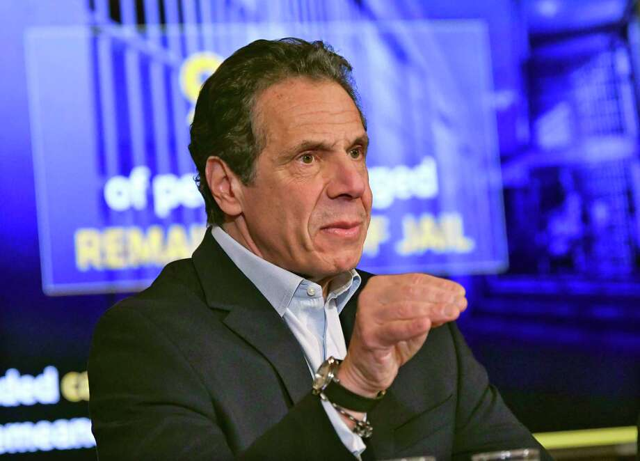 New York Gov. Andrew Cuomo speaks about the $175.5 billion state budget during a news conference in the Red Room at the state Capitol Sunday, March, 31, 2019, in Albany, N.Y. Photo: Hans Pennink, AP / Copyright 2019 The Associated Press. All rights reserved.