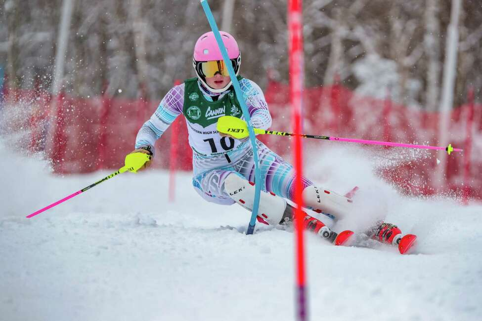 Hannah Klingebiel participates in skiing event.