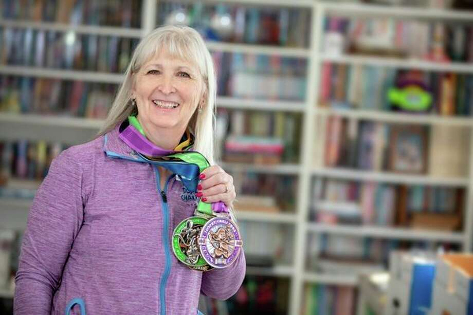 After physical therapy to heal an injury, Deb Bongard is back at work training for the road races she loves to compete in. (Image provided/MidMichigan Health)