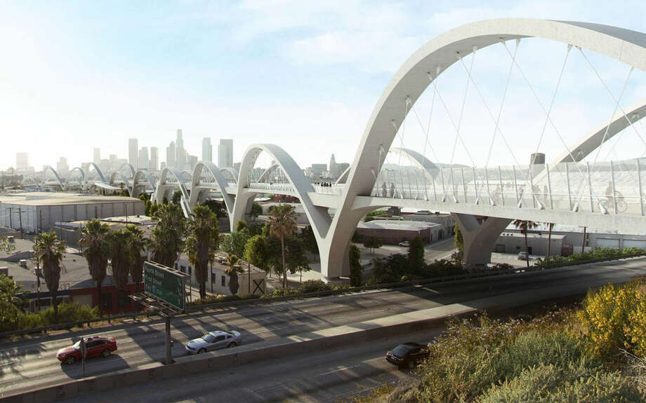 Cemex USA of Houston will provide concrete for the Sixth Street Viaduct Bridge project in Los Angeles. The iconic bridge has served as a backdrop in several feature films. Photo: Source: Cemex USA