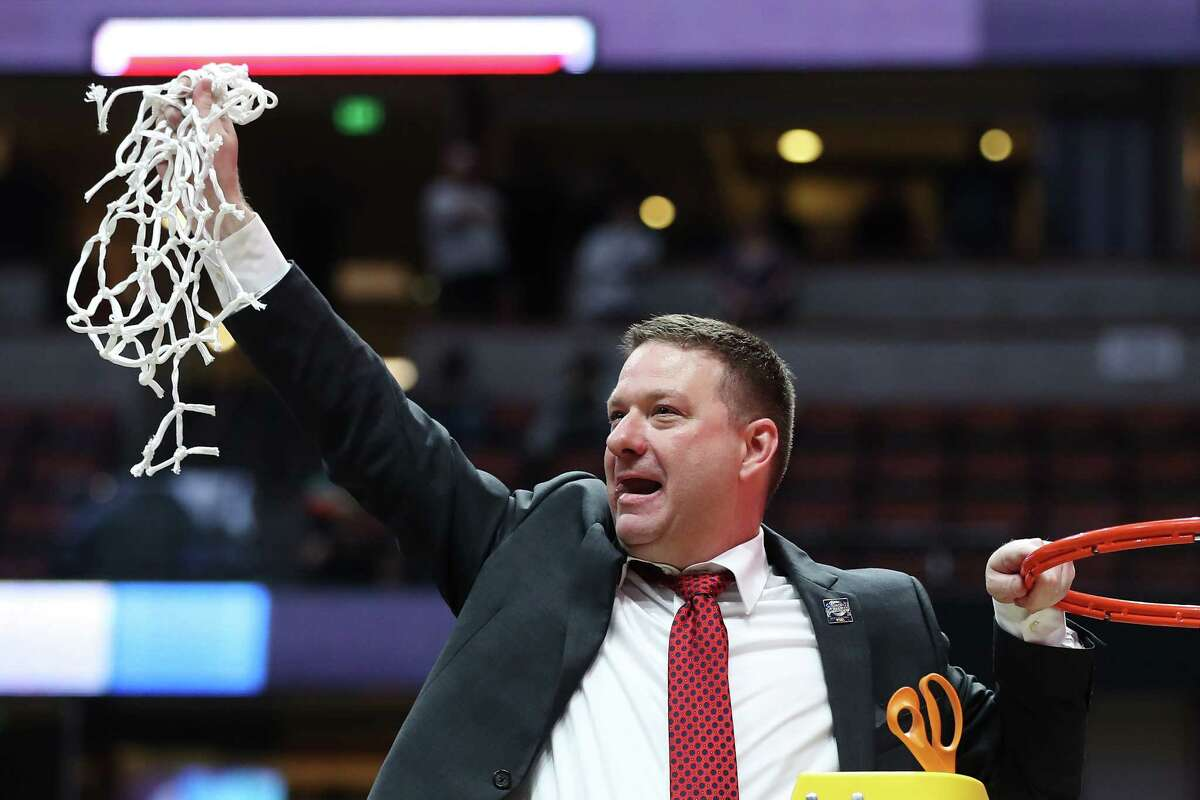 Chris Beard cut down the nets when his Texas Tech Red Raiders beat Gonzaga to go to the first Final Four in program history in 2019.