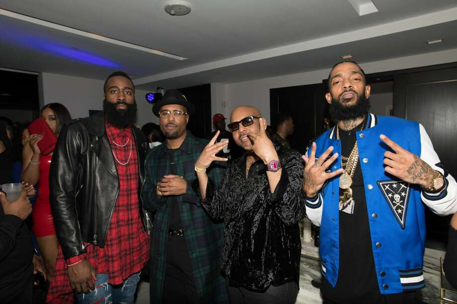 cfdb7b4e30db PHOTOS  A look at James Harden hanging out with Nipsey Hussle WEST  HOLLYWOOD