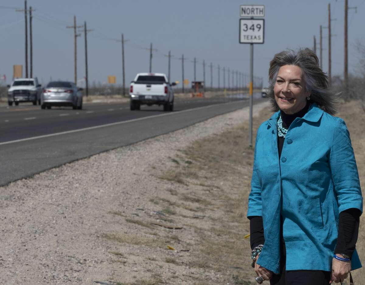 Jami Owen was instrumental in getting State Highway 349 expanded to four lanes.