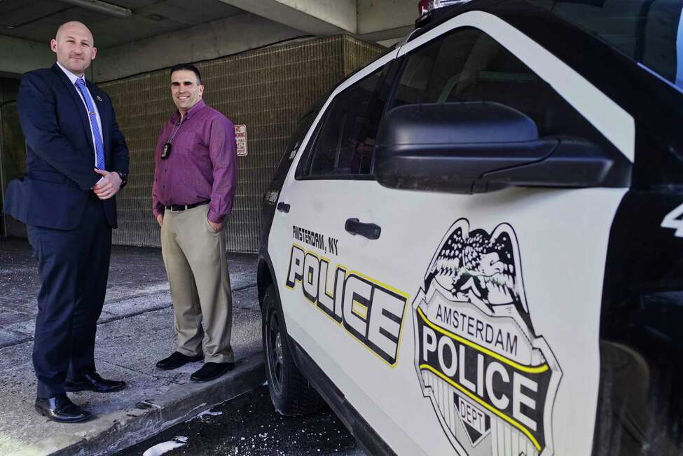 Amsterdam Police Detective Joseph Spencer, left, and Detective Sergeant Sal Megna said it's