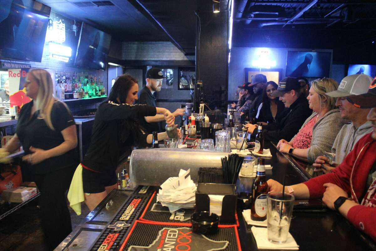 A busy bar on a Saturday night is a regular sight at Torinos PizzaBar.