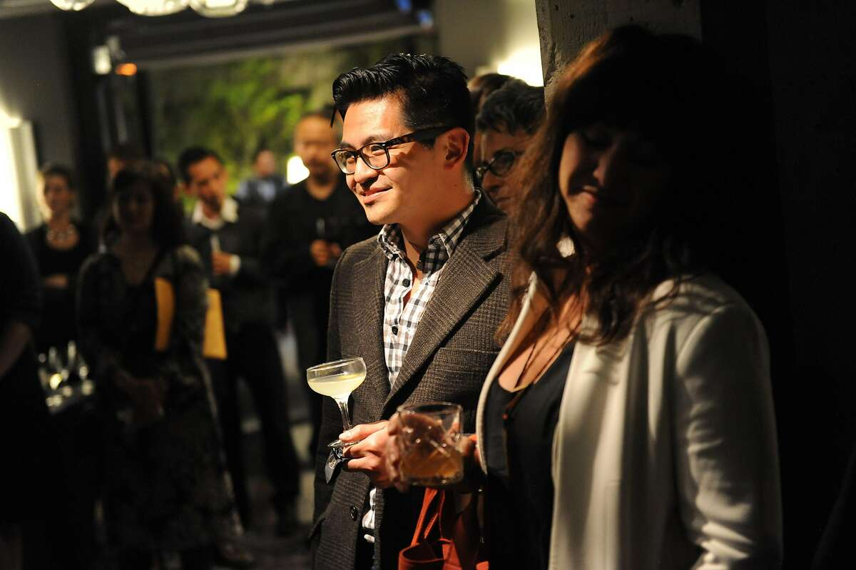 The San Francisco Chronicle celebrated their choice of the top 100 Bay Area restaurants at the Dirty Habit in San Francisco on June 2, 2014. Vinny Eng and others are seen.