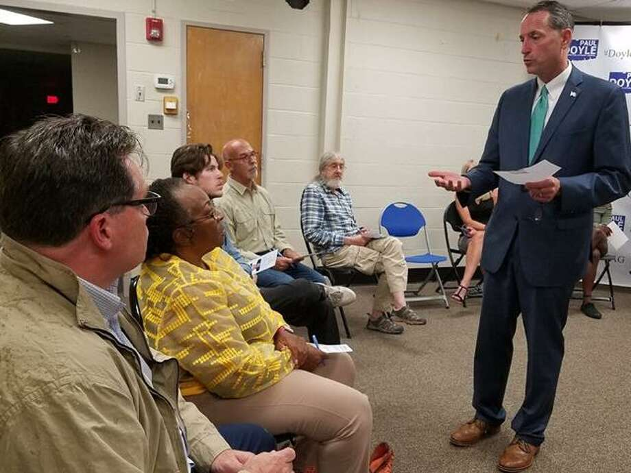 Former state senator Paul Doyle of Wethersfield speaks during a roundtable discussion. Photo: Contributed Photo