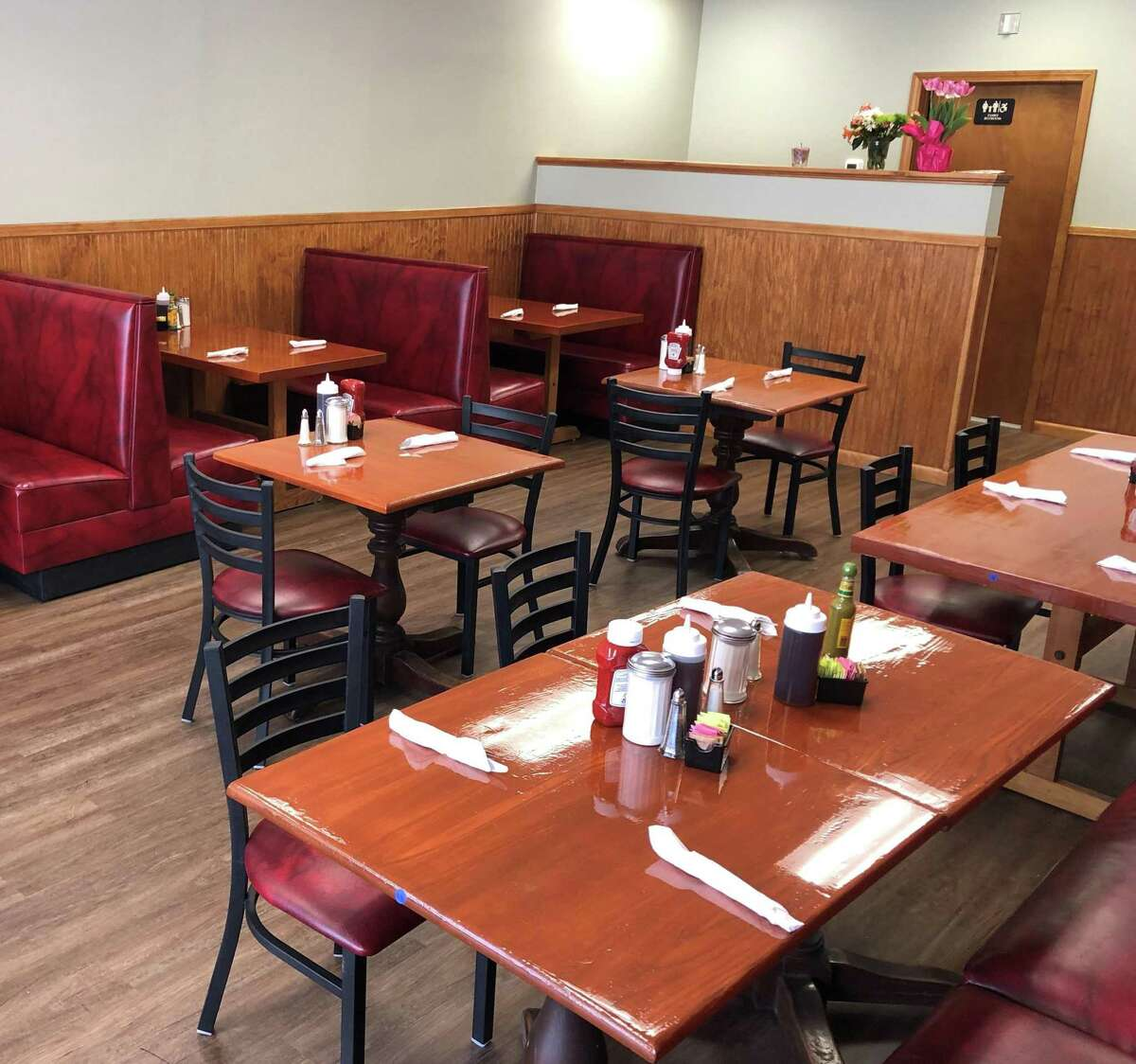 A portion of the expanded dining area at Johana's Restaurant on Main Street in New Milford. The eatery recently underwent a complete renovation and expansion, bringing seating from 28 to 56.