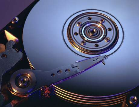 A computer hard drive