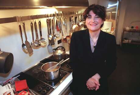 Ruth Reichl became the new editor of Gourmet magazine in 1999. She is shown here in the magazine's test kitchen in July 1999 as she began the September issue, the first under her direction.