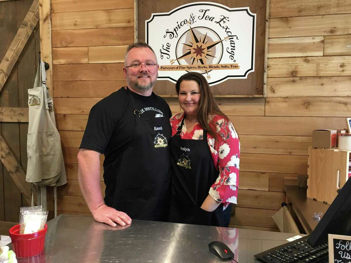 Jocelyn and Kennth Schneider opened The Spice & Tea Exchange at La Centerra at Cinco Ranch in December.