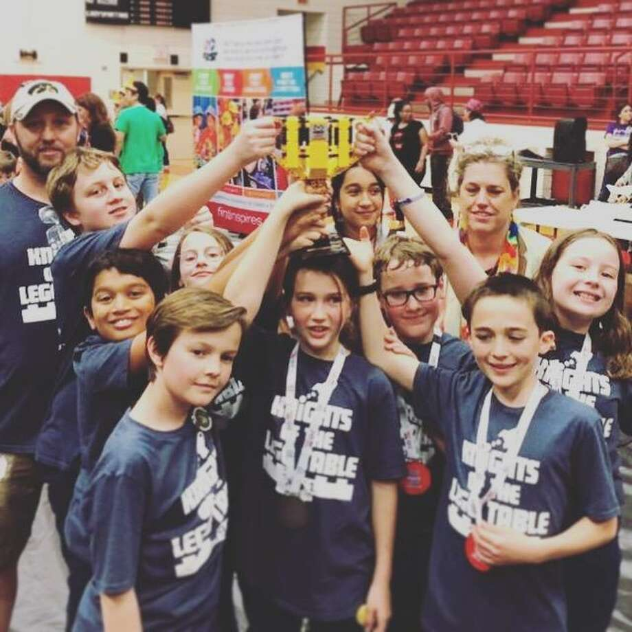 Rubicon Academy's FIRST LEGO League Team, made up of eight students ages 9 to 11, are headed to the FIRST LEGO League World Festival in Houston at the George R. Brown Convention Center this April. Photo: Submitted Photo / Submitted Photo