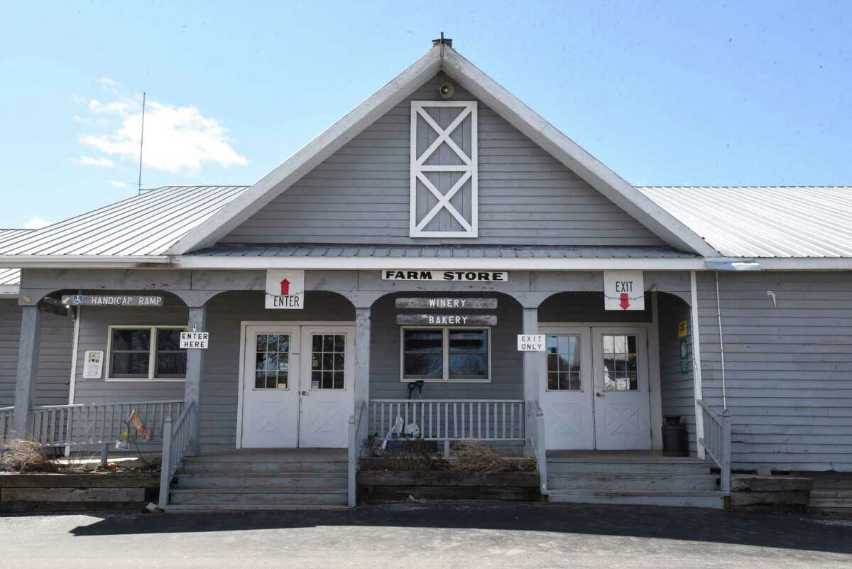 Exterior of the farm store at Goold Orchards on Monday, April 1, 2019 in Castleton, N.Y. The family-owned apple orchard is selling the business after109 years. (Lori Van Buren/Times Union)