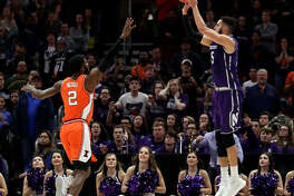Aaron Falzon, who played three seasons at Northwestern, is considering Siena as a graduate transfer. (Associated Press)