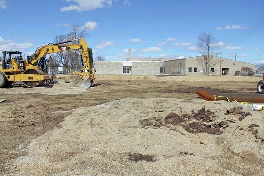 Work is under wayat Ubly Community Schools on the the district's bond projects. Shown here is where four additional classrooms will be built. Voters approved an $8.7 million bond issue last May, which included the four additional classrooms, interior updates, and safety upgrades, among many other items. (Mike Gallagher/Huron Daily Tribune)