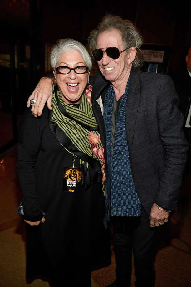 "Shelley Lazar and Keith Richards of the Rolling Stones at the HBO screening of the movie ""Crossfire Hurricane"" on Nov. 13, 2012, at the Ziegfeld Theater New York City. Photo: Kevin Mazur / Getty Images / 2012 Kevin Mazur online_yes"