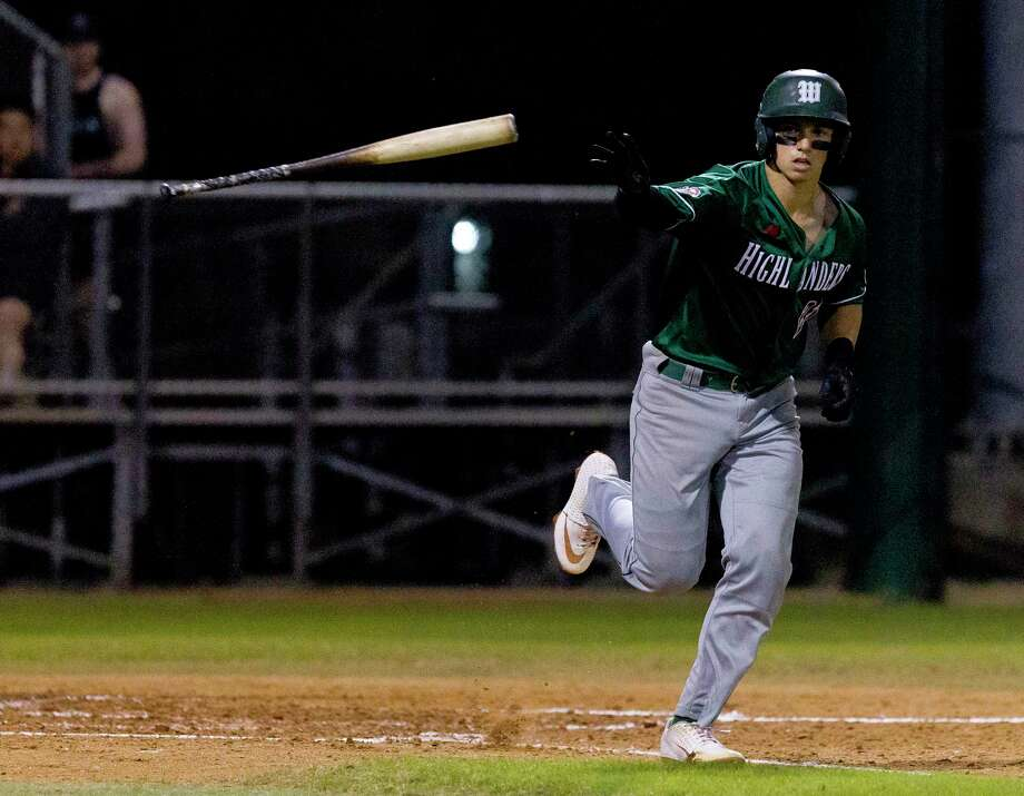 The Woodlands Drew Romo, shown here earlier this season, homered for the Highlanders in a 5-1 win over Conroe Tuesday night. Photo: Jason Fochtman, Houston Chronicle / Staff Photographer / © 2019 Houston Chronicle