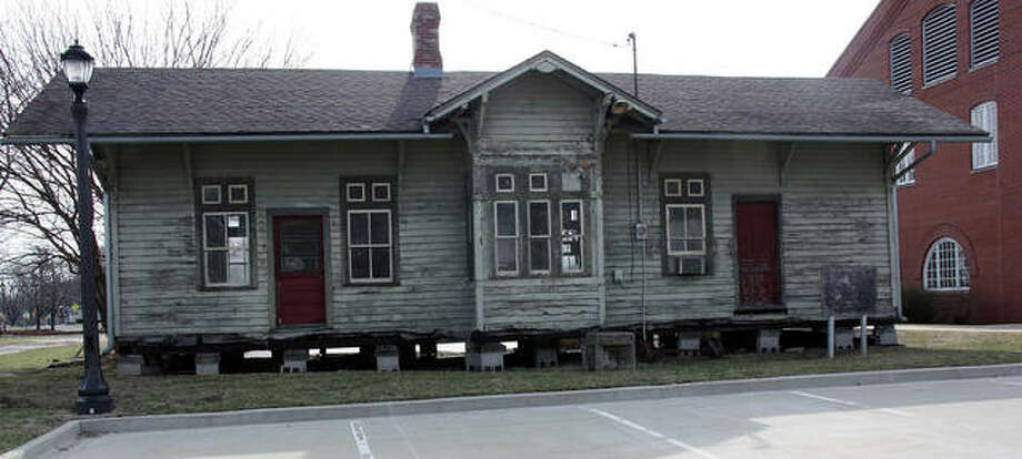 The Nickel Depot, shown here last month, could eventually become the newest extension of the Edwardsville Children's Museum, using some grant money up for approval at Tuesday's city council meeting.