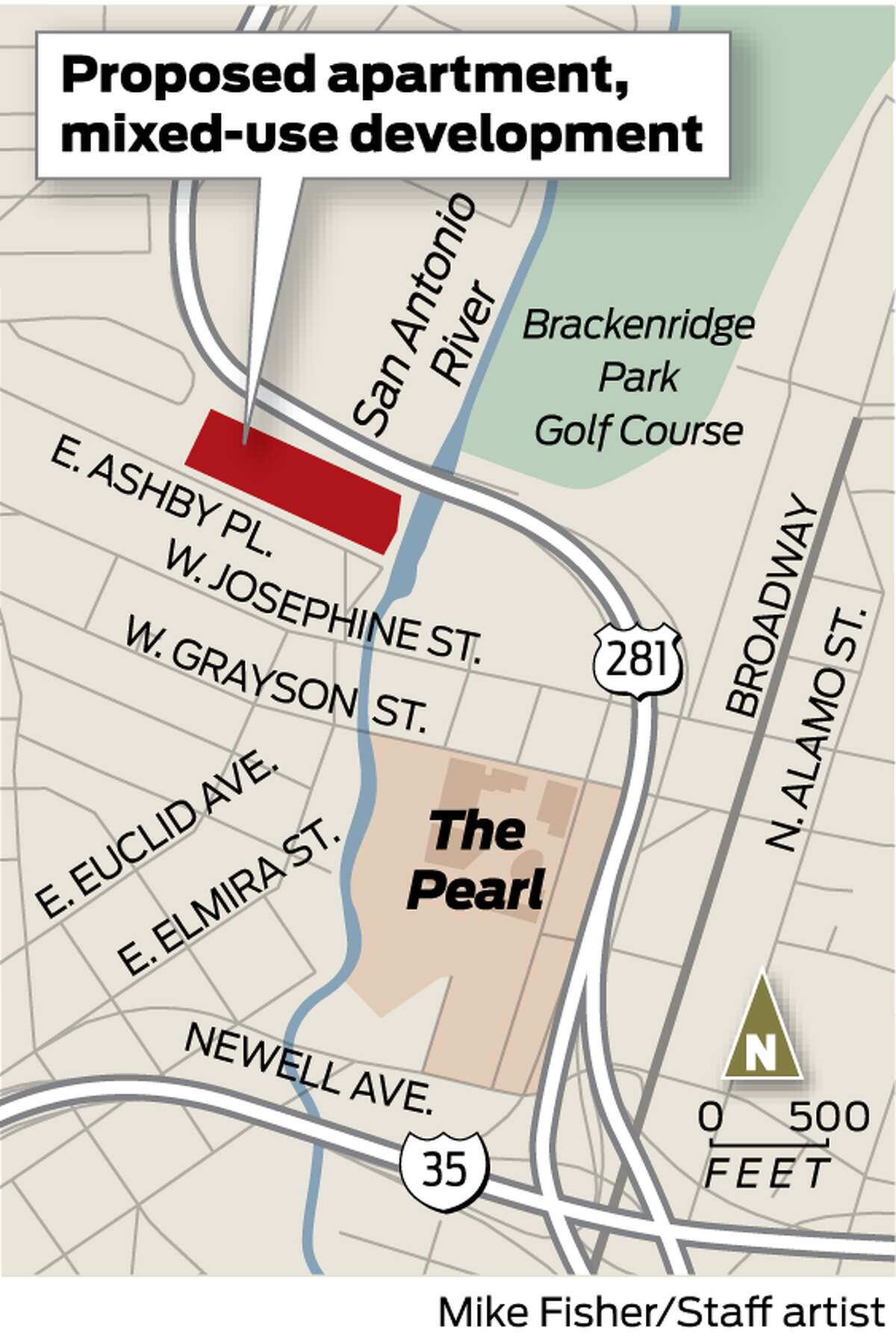 A pair of developers plan to renovate a self-storage facility on the San Antonio River into a mixed-use development that includes apartments, offices and retail.