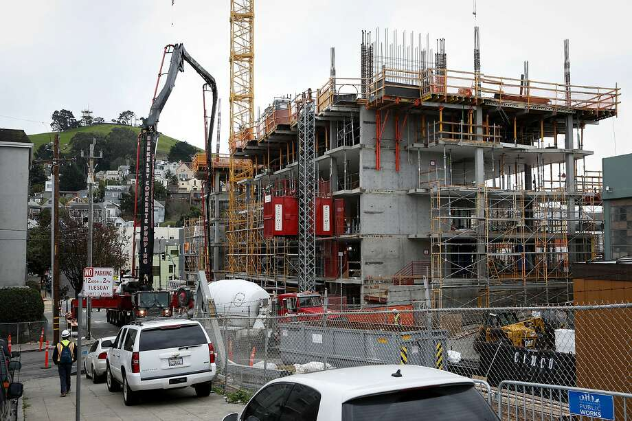 An affordable housing building currently under construction at Ceasar Chavez and Shotwell St. seen on Tuesday, February 12, 2019 in San Francisco, Calif. Photo: Amy Osborne / Special To The Chronicle