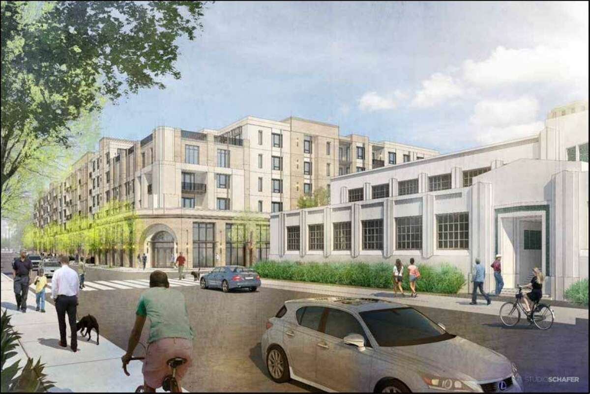 Developers want to demolish several buildings with self-storage units that sit on the 5.1-acre lot at 815 E. Ashby Place - just two blocks north of The Pearl - to make way for a five-story apartment building with about 300 units.