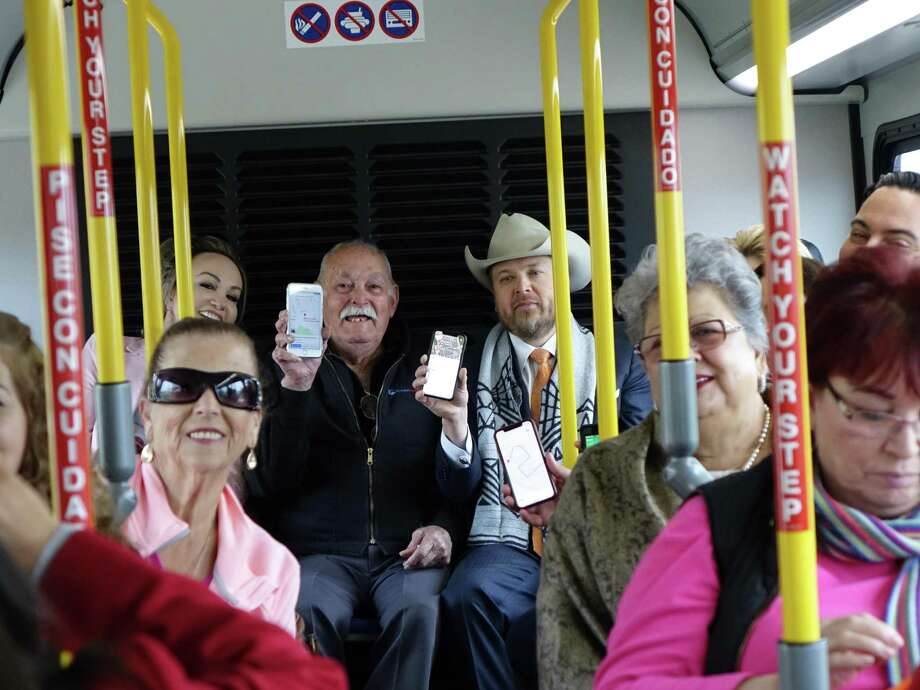 Laredo City Councilman George Altgelt, El Metro Transit, Parra & Co, City of Laredo Parks and Leisure Services Department and members of the community gathered Monday to announce the offering of Google Transit. Photo: El Metro /Courtesy Photo