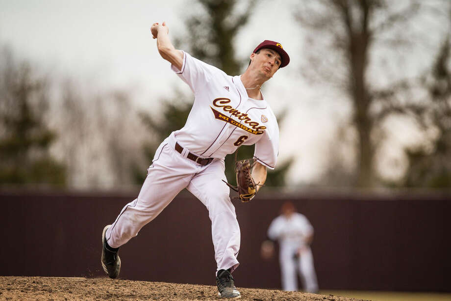 Midland High alum Jordan Patty pitches for Central Michigan University. Photo: Cmuchippewas.com