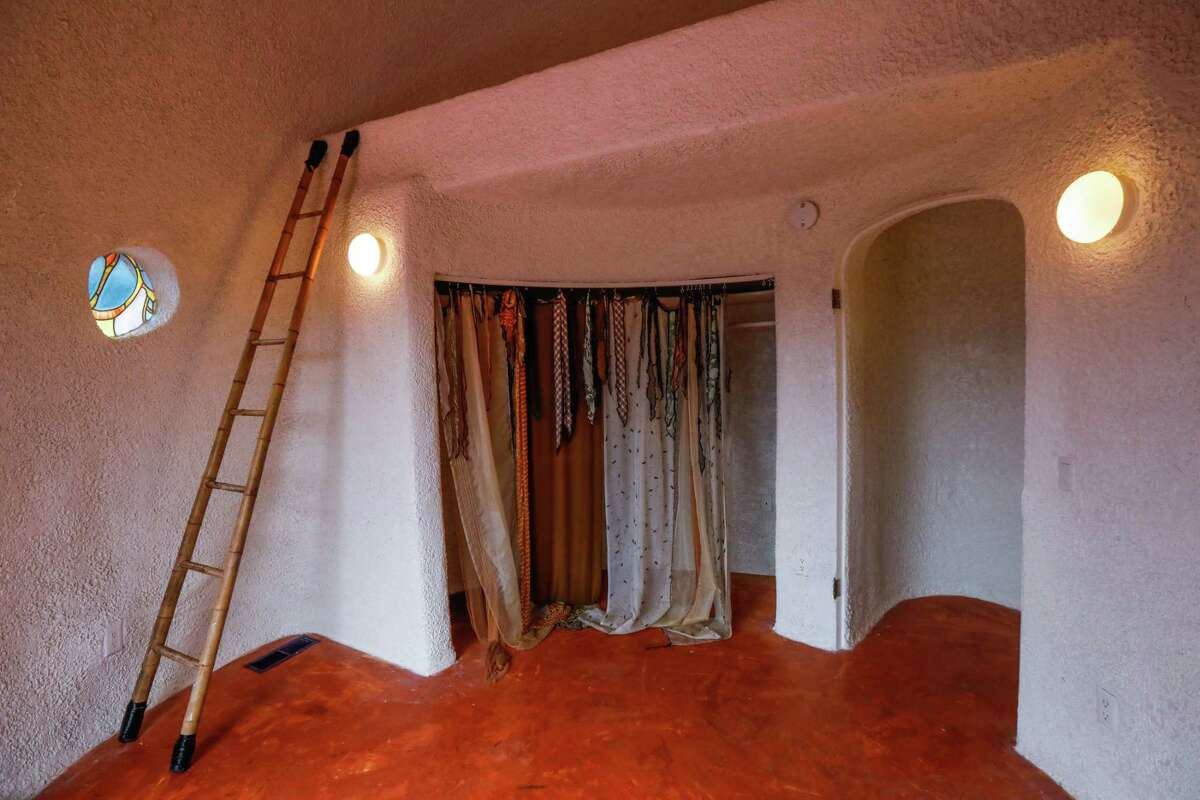 A room inside the controversial Flintstone House in Hillsborough owned by Florence Fang.
