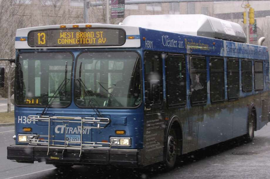 A fight between a CTtransit bus driver and a passenger was caught on video last month. Photo: File Photo