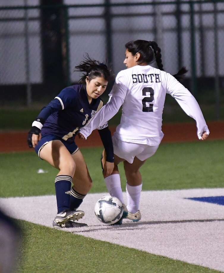 Marina Saldivar and Alexander compete in the area round for the first time Tuesday taking on Edinburg at 6 p.m. at Roma Middle School. Salidvar scored twice in Friday's 2-0 win over McAllen Memorial. Photo: Cuate Santos / Laredo Morning Times / Laredo Morning Times