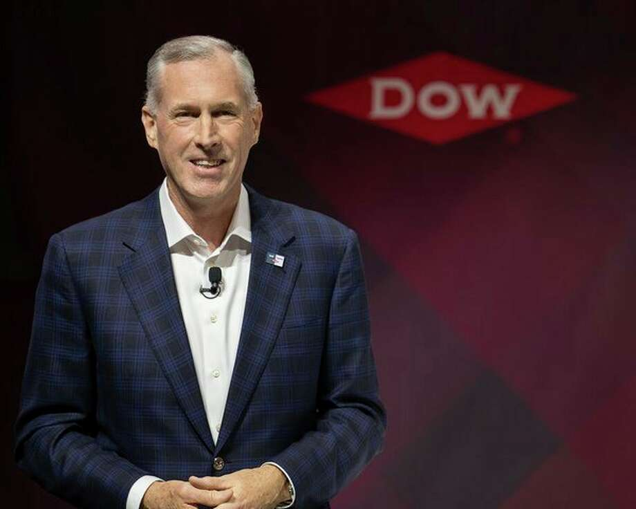 FILE — Dow CEO Jim Fitterling - Dow World News at Fellows Hall in Midland, Michigan on March 11, 2019. (Photo provided) / Dow Chemical Company