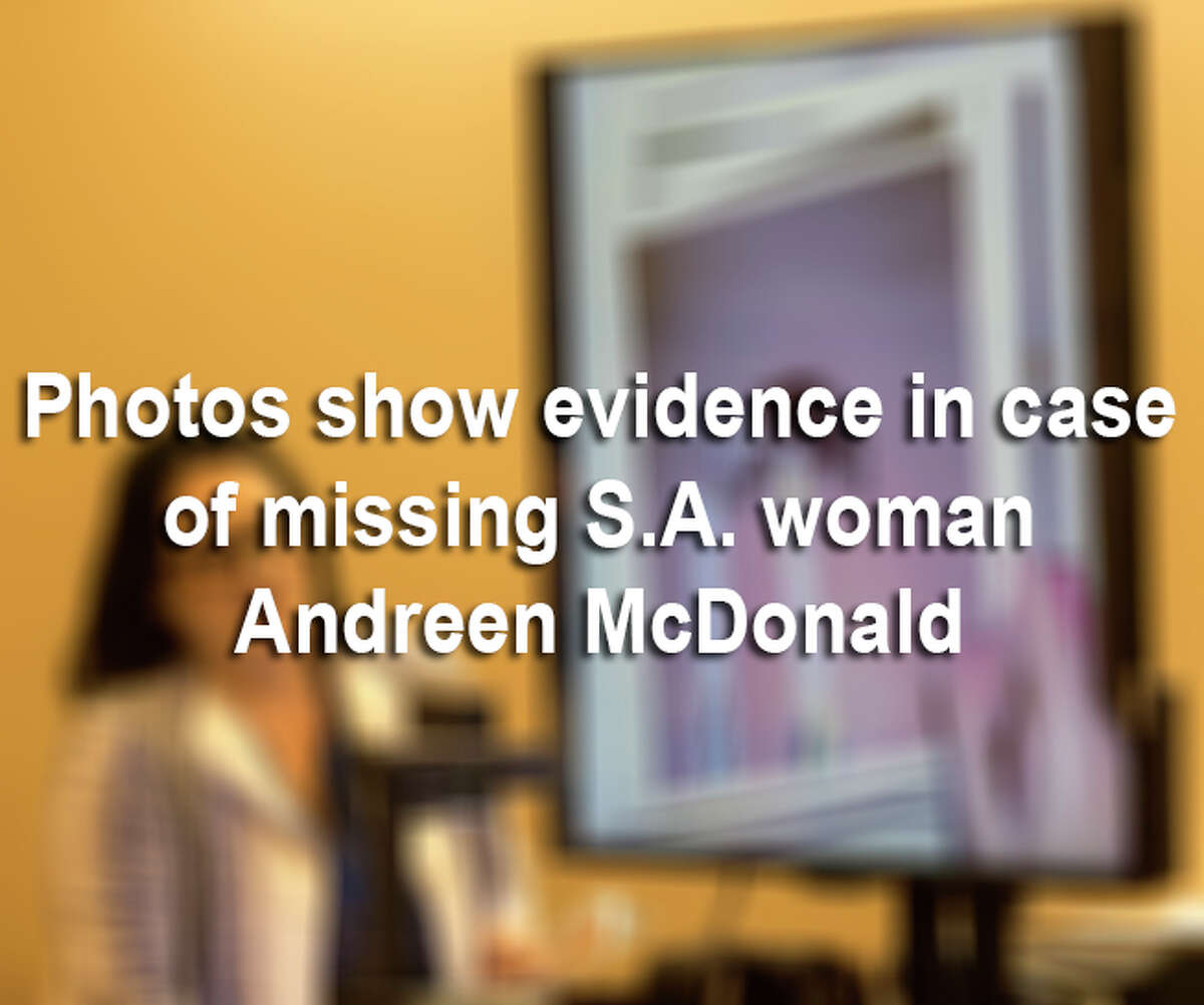 Prosecutors revealed photos of evidence in case of the missing San Antonio woman as a judge lowered the bail of the woman's husband, Andre McDonald.