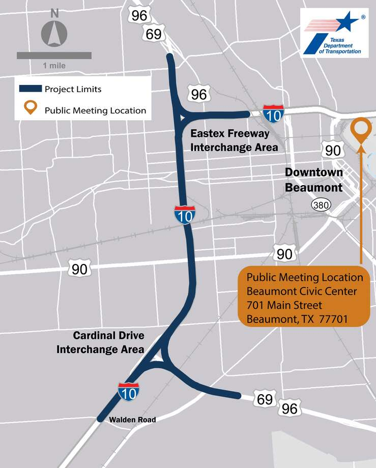 Txdot Needs Your Help With I 10 Us 69 Project Beaumont Enterprise - Us-interstate-10-map