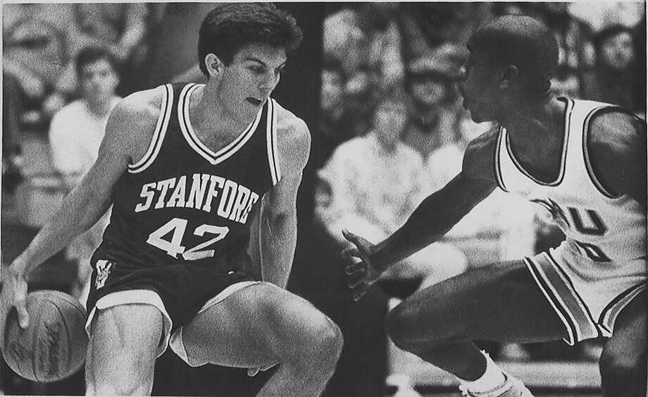 Todd Lichti  (left) and Gary Payton in Stanford at Oregon State game, Jan. 28 1988, Corvallis Ran on: 11-28-2007 Bob Murphy (right), a fixture at Stanford football games, does the Saturday pregame show with partner Dave Flemming. Photo: Paul VanDevelder / Associated Press 1988