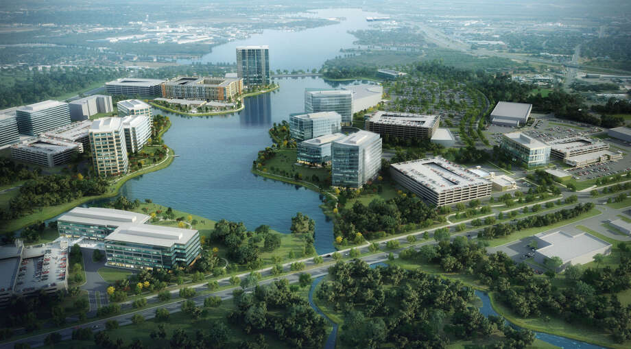 A rendering of the 77-acre Research Forest Lakeside development. Photo: Courtesy Of Transwestern