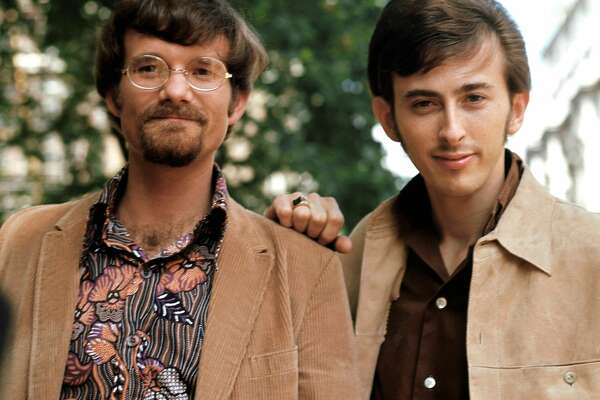 "American pop and rock duo, Zager and Evans, circa 1969. They are Rick Evans (left) and Denny Zager. Their big hit, ""In the Year 2525,"" in 1969 has a Texas connection. (Getty Images)"