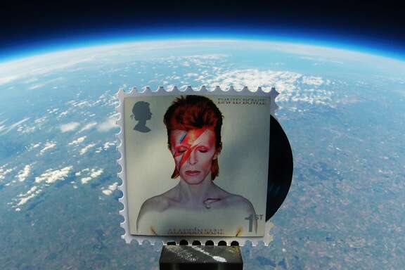 UK's Royal Mail launched 52 sets of David Bowie stamps into space. The stamps issued pays tribute to the late music and fashion icon, featuring images of his album covers and photographs from major tours.
