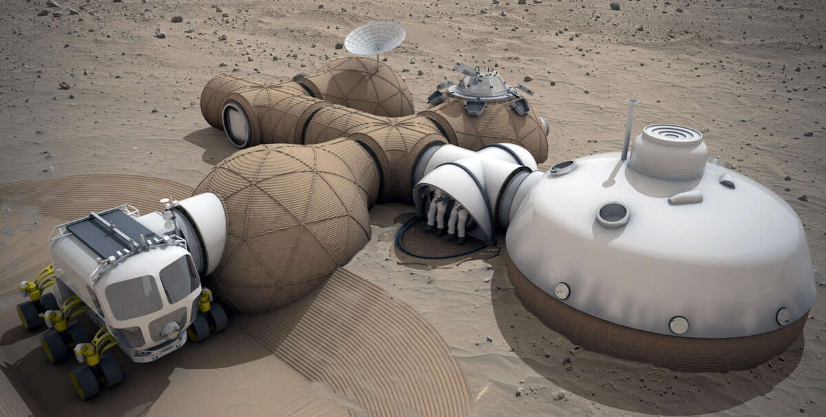 Team LavaHive was awarded third place honors for their Mars habitat design in the 2015 3-D Printed Habitat Challenge.