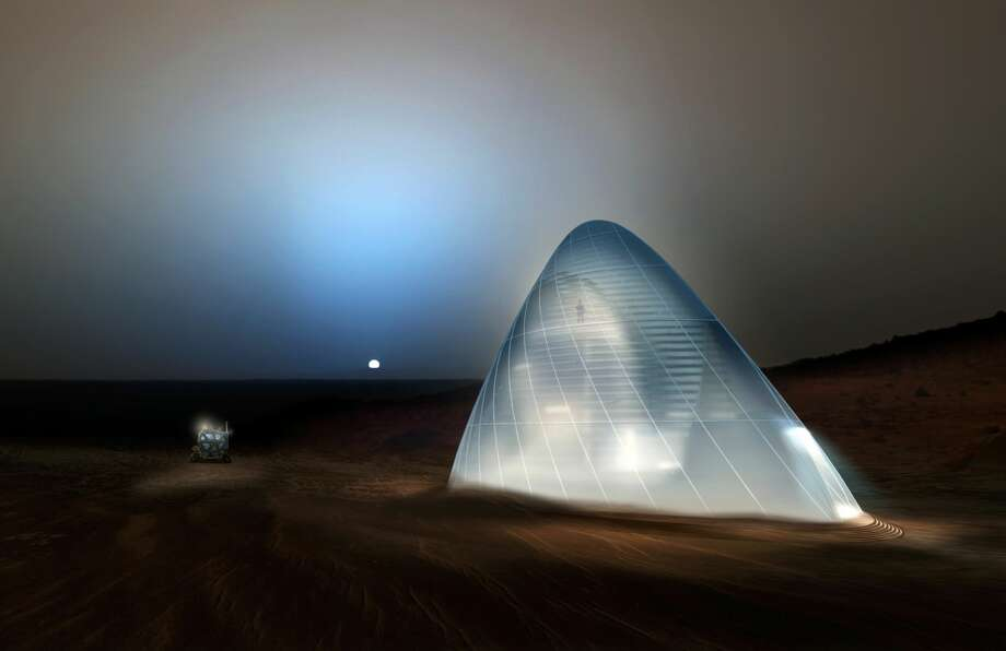 The first-place award of $25,000 went to Team Space Exploration Architecture and Clouds Architecture Office of New York, New York, for their design, Mars Ice House in the 2015 3-D Printed Habitat Challenge. Photo: Space Exploration Architecture And Clouds Architecture Office