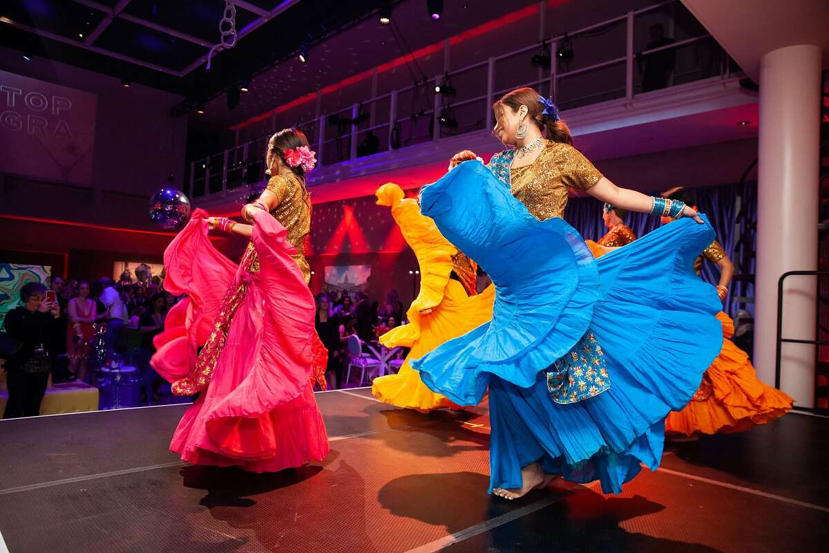 Bollywood dancers from Non Stop Banghra perform at YBCA's 'This is Not a Gala'