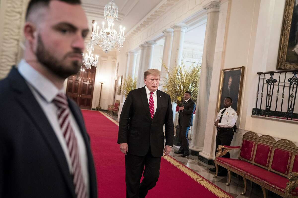 President Donald Trump at the White House on Monday, April 1, 2019. Trump said late Monday that a Republican plan to replace Obamacare would be voted on after the 2020 election. (Sarah Silbiger/The New York Times)
