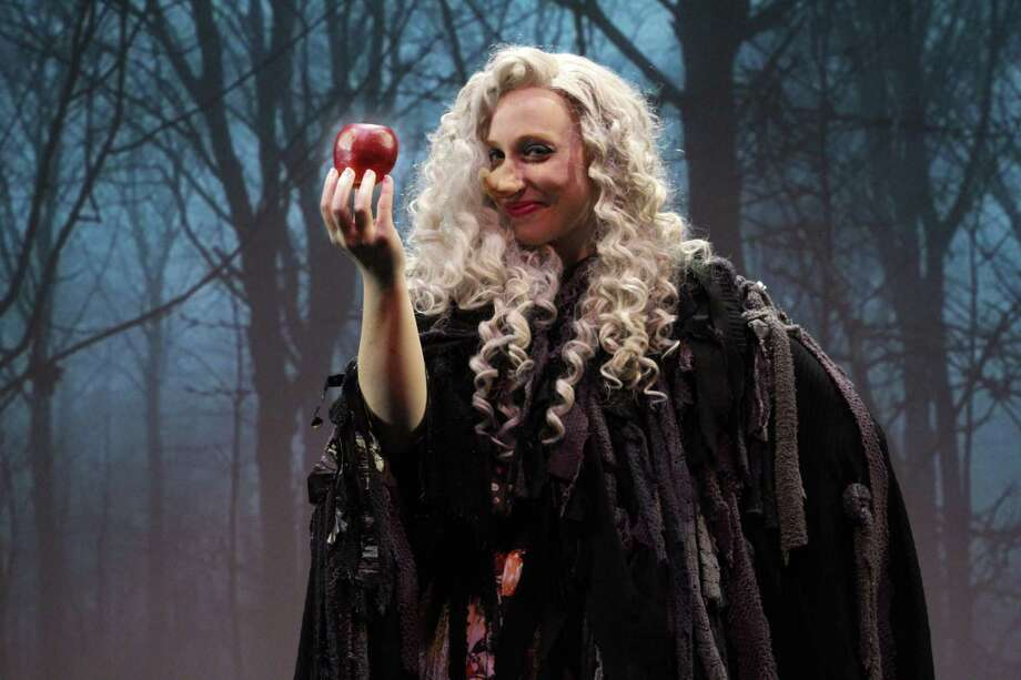 "Corinne Marshall plays the evil queen, Hekuba, in ""Snow White,"" onstage at Bridgeport's Downtown Cabaret Theatre, April 13 through May 19. Photo: Phill Hill / Contributed Photo"