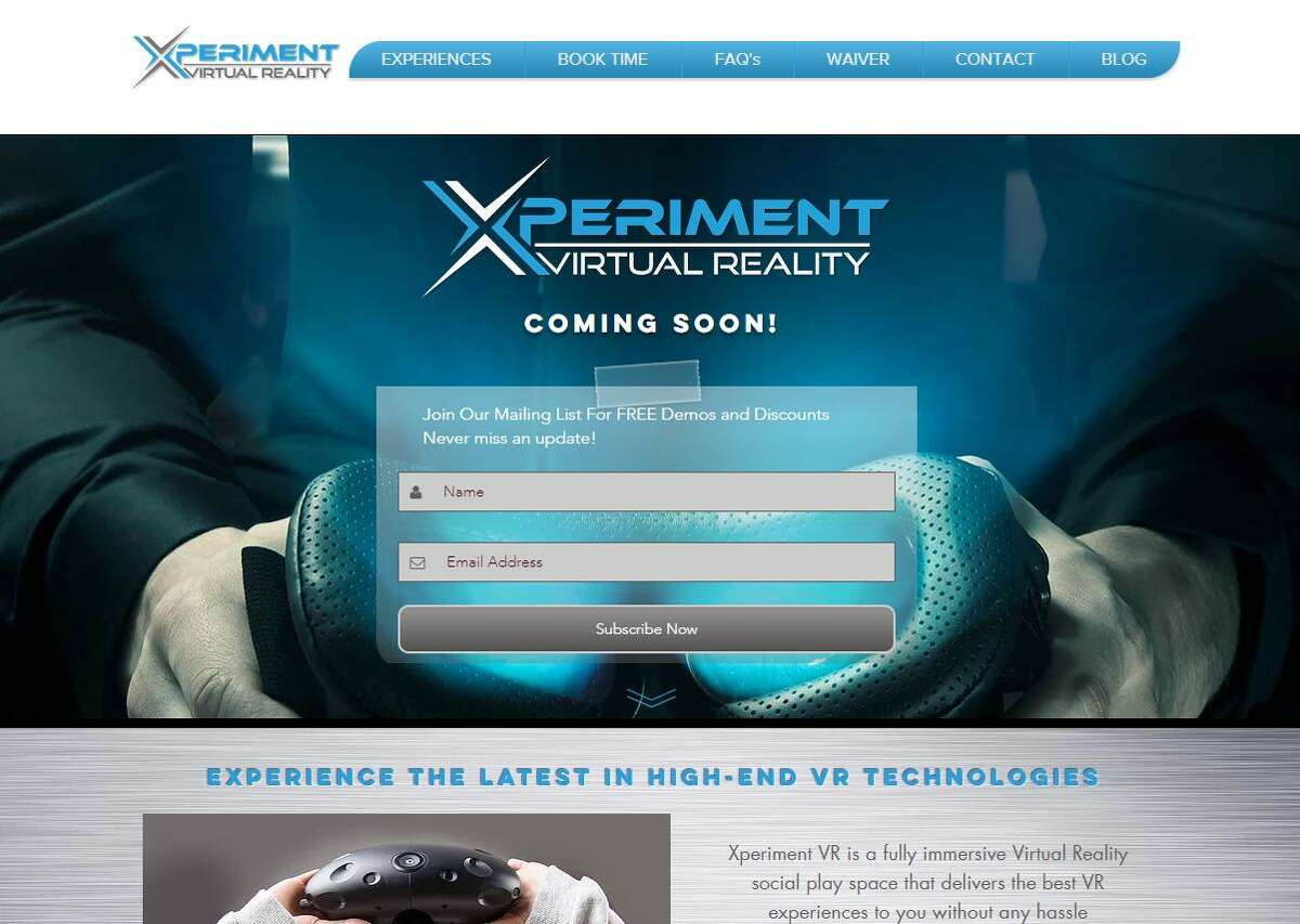 Xperiment Virtual Reality is nearing a grand opening at the Hawley Lane Mall in Trumbull, with the company promising VR experiences spanning action and sports games, race simulators, arts, education and Google Earth explorations to name a few. (Screenshot via Xperiment Virtual Reality)