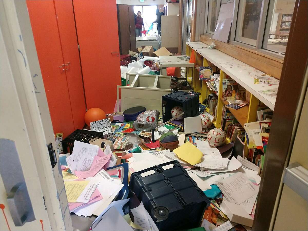 Vandals shattered windows, destroyed laptops and defaced classrooms at Manzanita Community School during spring break, school officials said.
