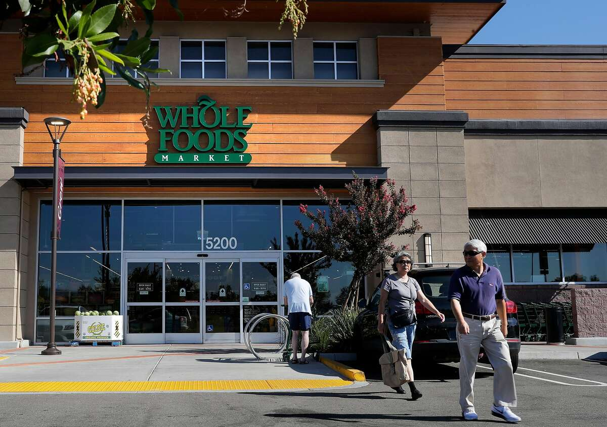 A recently opened Whole foods Market in Dublin, Ca. as seen on Mon. August 28, 2017. It is Amazon's first day of owning Whole Foods after their acquisition of the company.