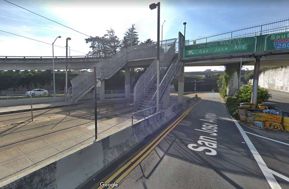 Route I-280 over San Jose Ave, Munirail, San Francisco. Daily crossings: 85,000 Photo: Google Street View