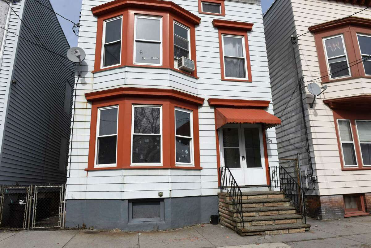 Exterior of the home at 523 First Street where police responded to the call which led to the alleged assault of two black men by Albany police officers on Tuesday, April 2, 2019, in Albany, N.Y. The incident took place on March 16 after police responded to a call for loud music. (Will Waldron/Times Union)