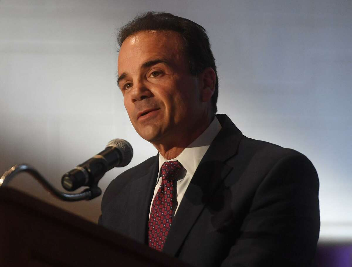 Bridgeport Mayor Joe Ganim delivers his annual State of the City speech at the University of Bridgeport on Tuesday, April 2, 2019.
